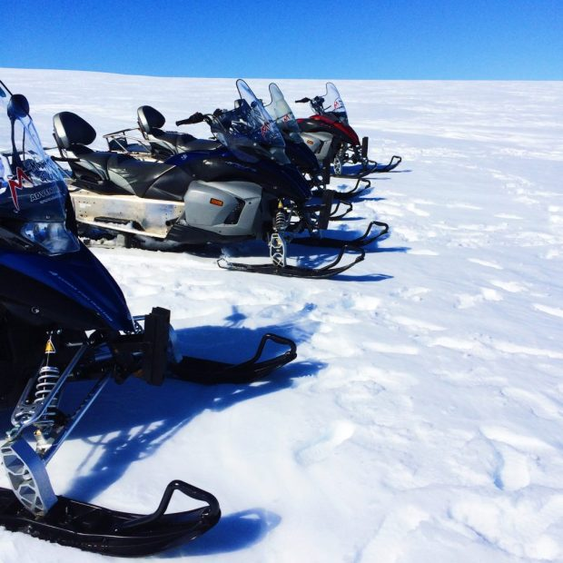 Outdoor Adventure Activities in Iceland for Thrillseekers | Hike a volcano, ride a snowmobile and fly in a helicopter over Iceland's amazing landscape! | Jackie Jets Off travel blog