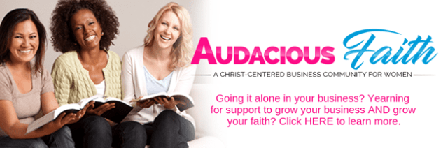 If you're going it alone in your business, Audacious Faith is a community for you.