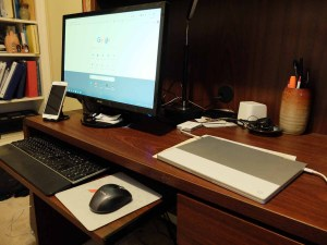 Jack Lail's Desk with Pixelbook