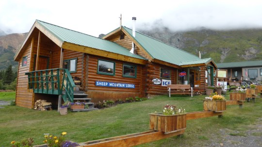 The delightful Sheep Mountain Lodge on the Glenn Highway.