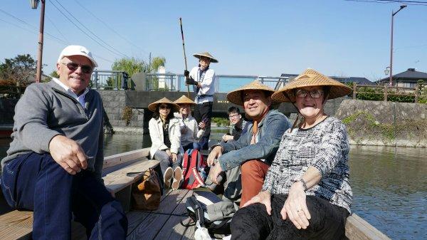 Canal punt tour in Yanagawa