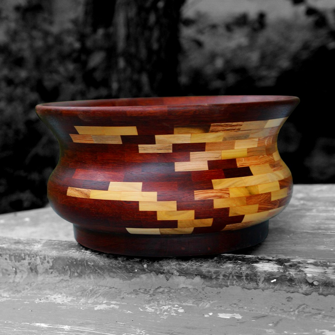 Reclaimed Pallet Wood Mahogany Segmented Bowl Jackman