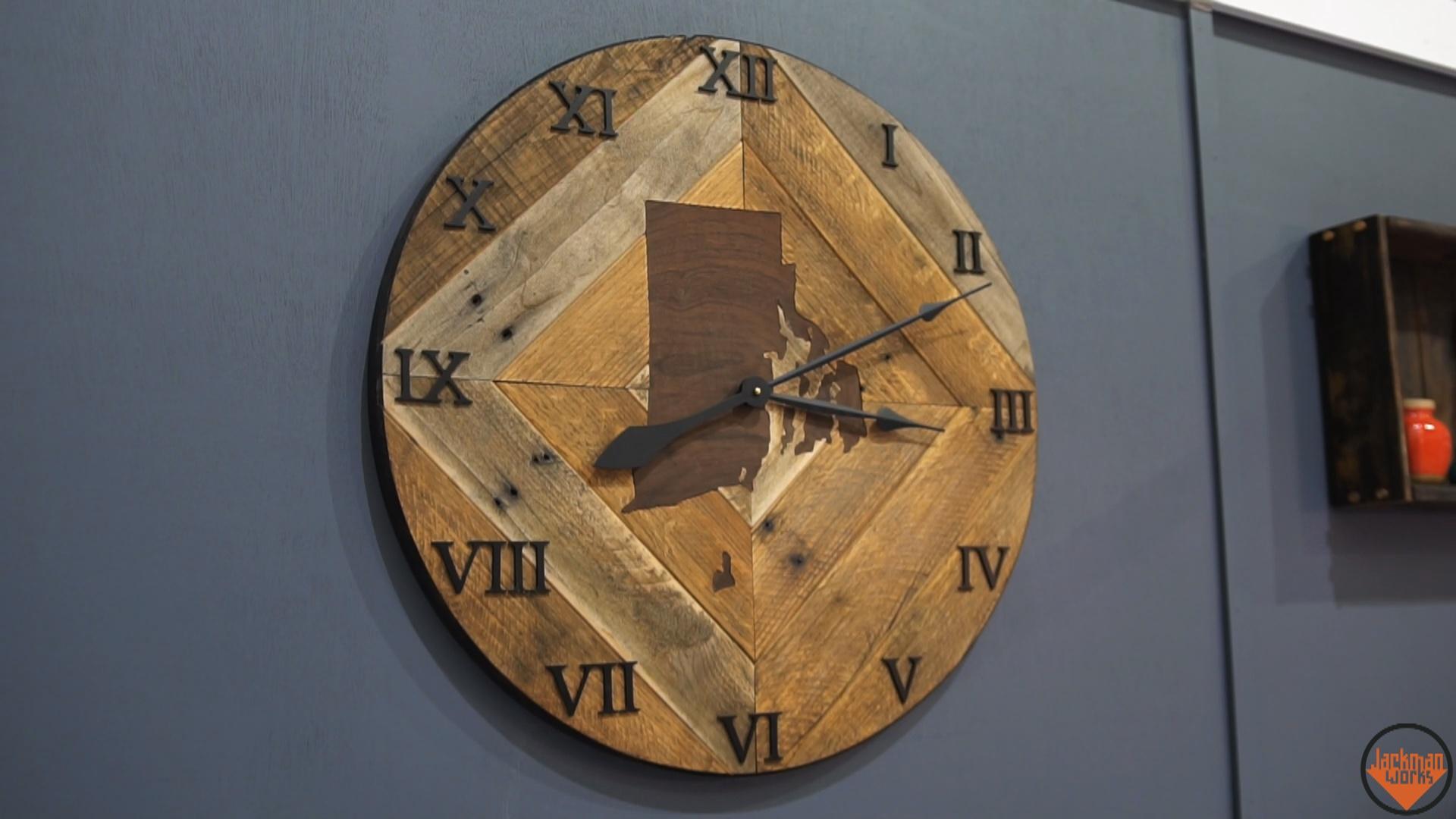 Pallet Wood Wall Clock 24 Jackman Works