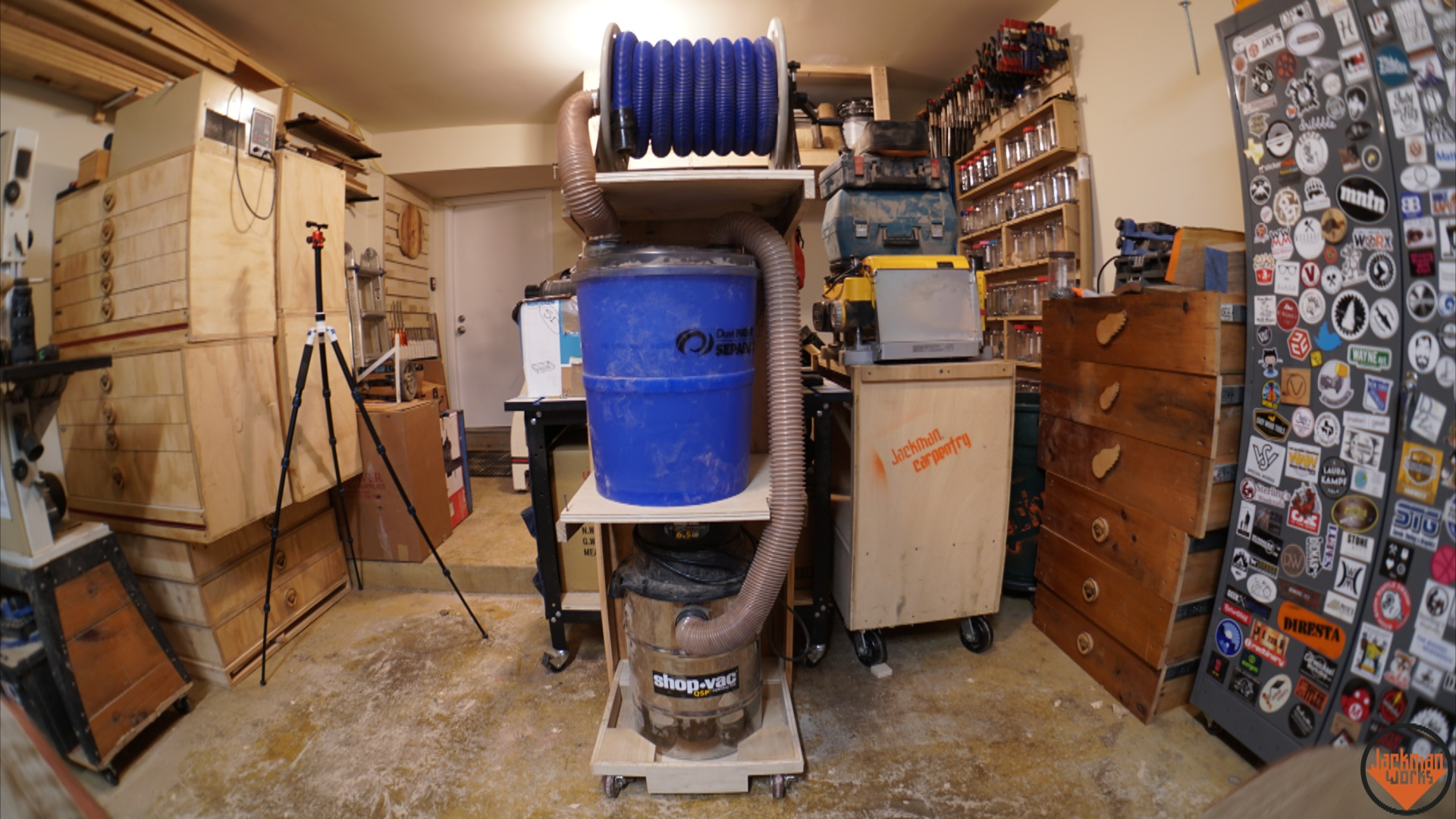 Shop Vac,dust Collection,dust Collector,shop Vac Cart,dust Collection  Cart,rockler,dust Separator,vacuum Hose Reel,jay Bates,jeremy  Schmidt,woodworking ...