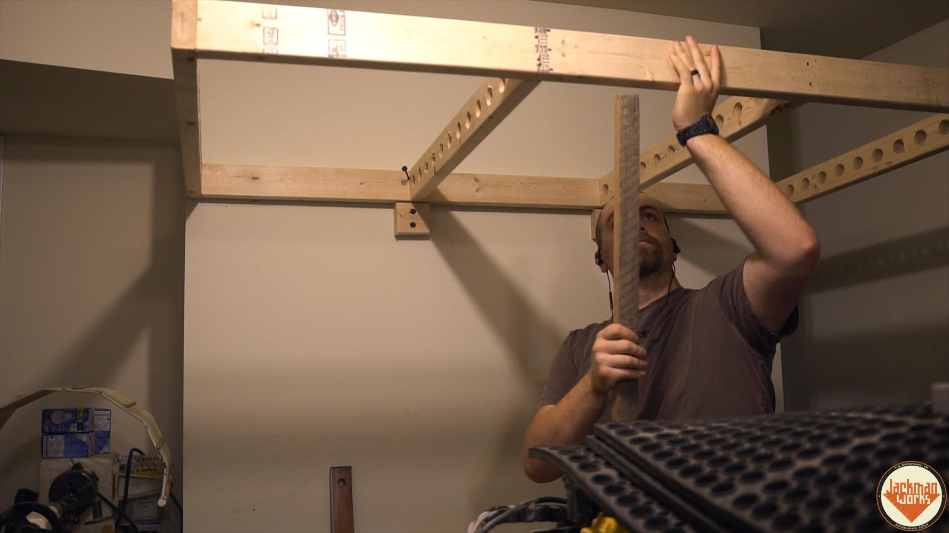 Floating Garage Storage Loft And Clamp Rack 14 Jackman Works