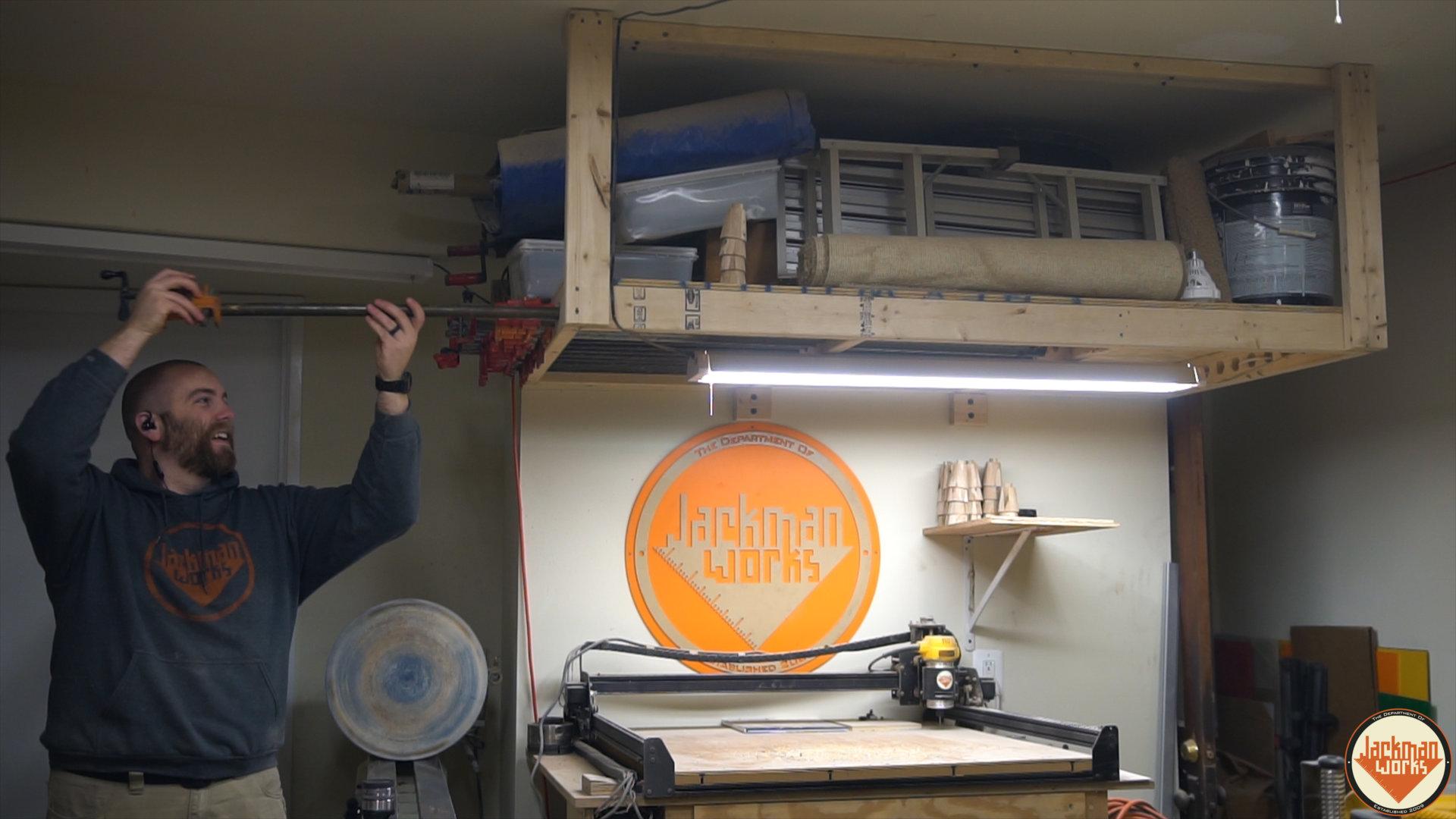 Floating Garage Storage Loft And Clamp Rack 22 Jackman Works
