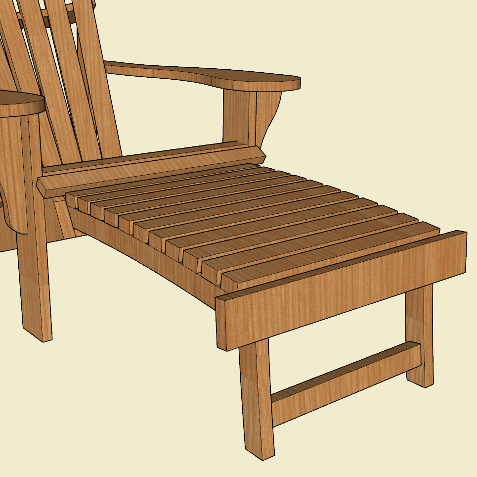 Adirondack Chair Footrest/Ottoman | Jackman Works