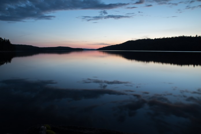Sunset in Quetico Lake
