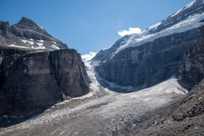 Retreating glacier
