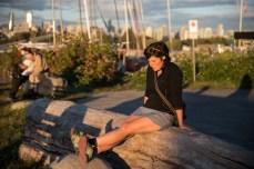 Enjoying the evening sun