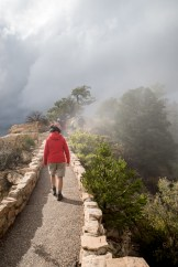 Fog on the edge of the Grand Canyon