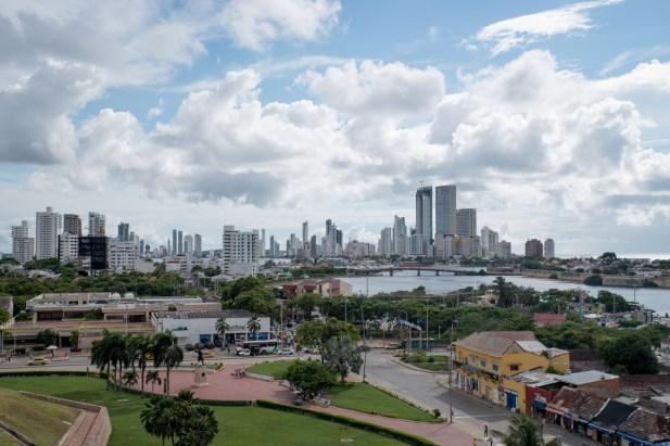 view on modern Cartagena
