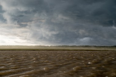 Stormy weather on the Amazon