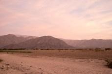 sunset in Nasca