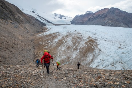 Climbing the pass