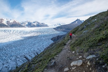 Following the glacier