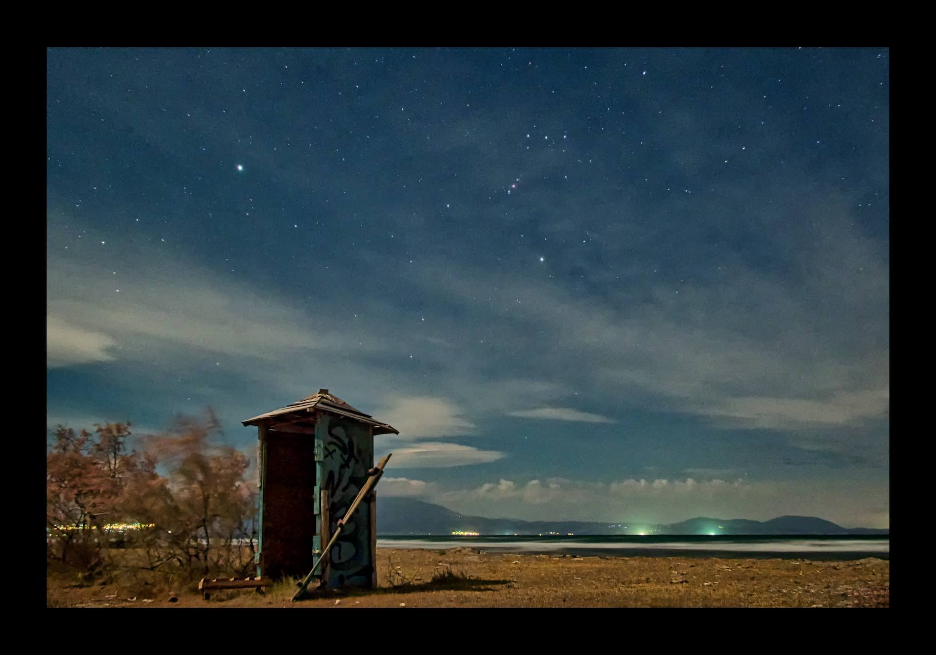 Starry Night (Landscape under the Moonlight)