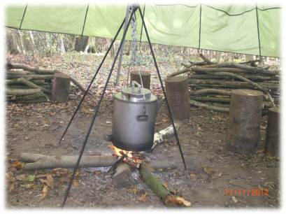new kettle | bushcraft, course, courses, skills, woodland, team, building, Kent, wild, foods