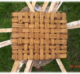 bushcraft | bark weaving