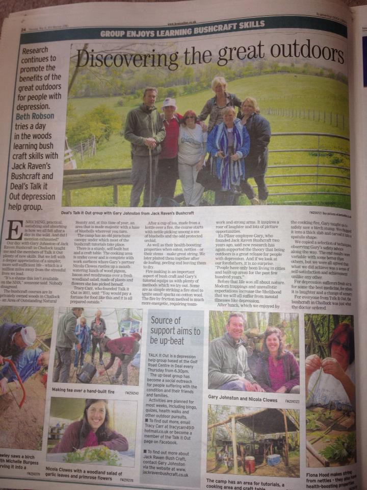 newspaper article | East Kent Mercury May 2013