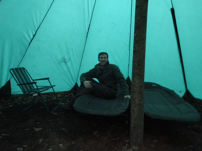 new tent   bushcraft   south east