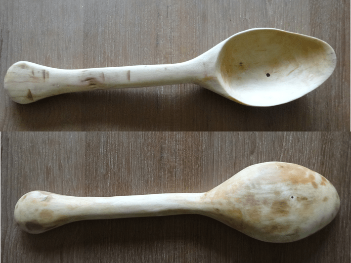 A Hand Carved Hawthorn Spoon