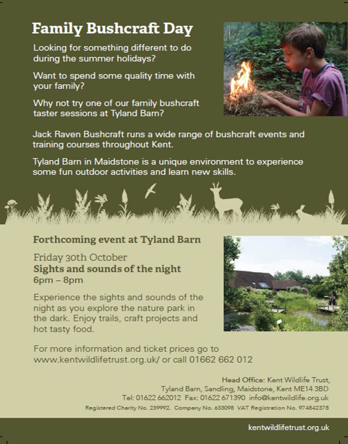 family bushcraft courses in kent