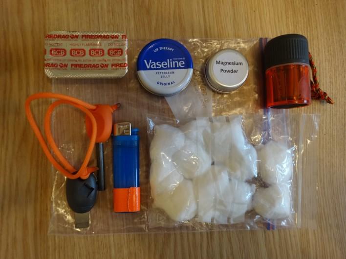 survival kit fire lighting