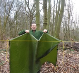 setting up a tarp \ bushcraft | Kent | south east | London