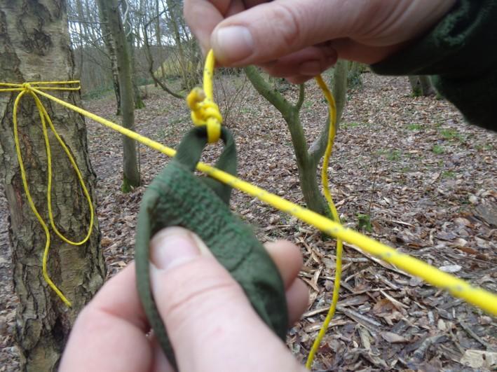 setting up a tarp | bushcraft | Kent | south east | London