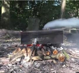 making char cloth | bushcraft | fire lighting | Kent | London | south east