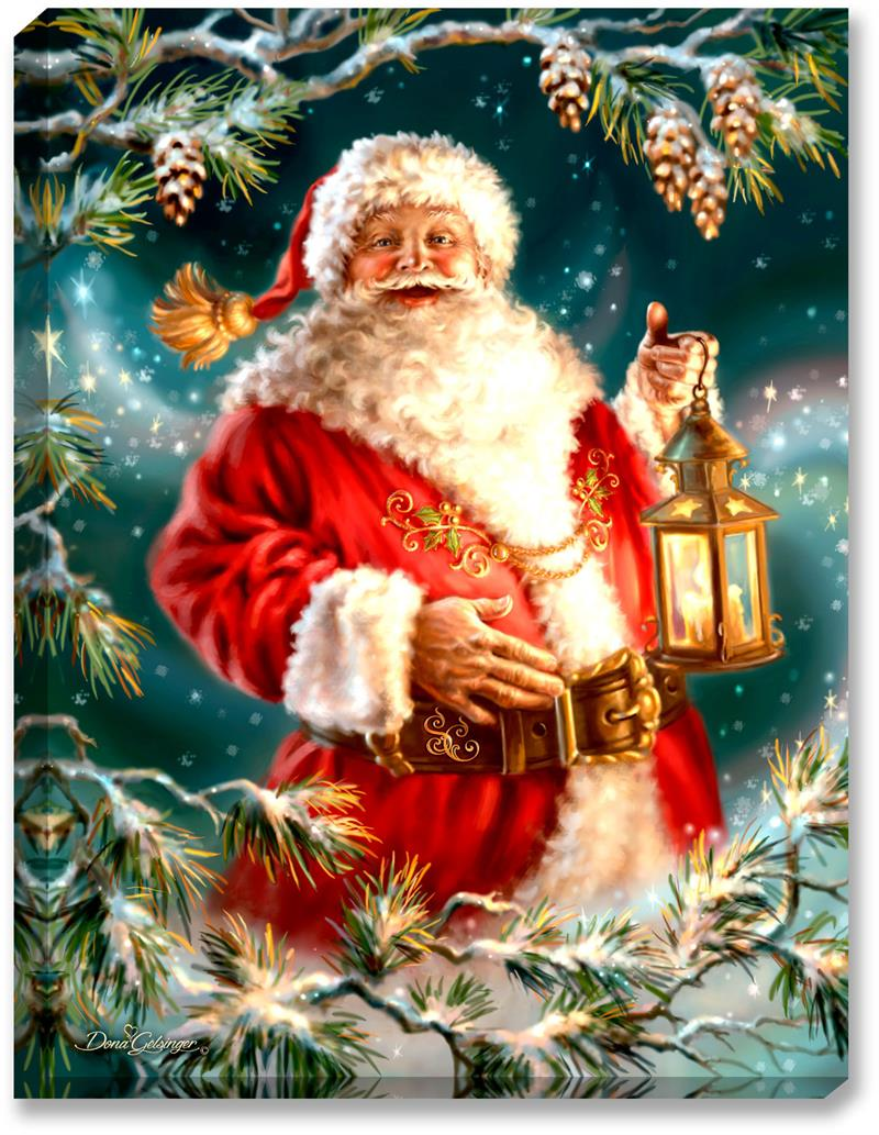 Glow Dcor Enchanted Santa Illuminated Wall Art D1003 By
