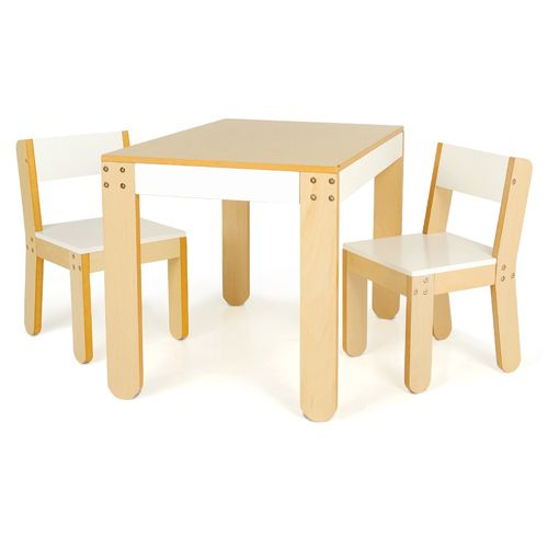 Kolino Kids Little One's Table and Chairs, White, #PKFFTCWHT