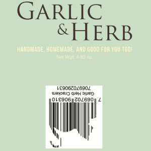 Garlic Herb Crackers-  16oz Bulk Wholesale