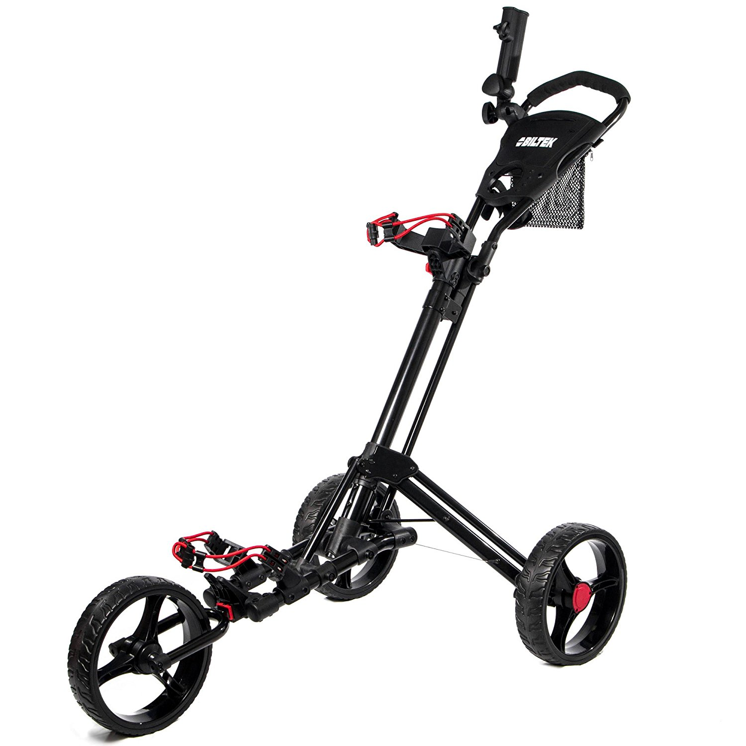 Biltek Premium 3 Wheel Golf Push Cart Trolleys