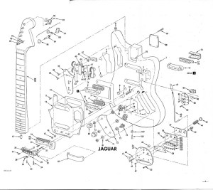 Fender Jaguar Schematic – interesting to see all the parts