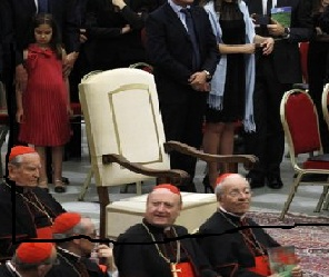 The Pope is missing from the chair of adulation. Change is coming for the Catholic Church