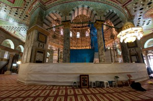The enclosed Foundation Stone in the Dome of the Rock Copyright Jack Smith