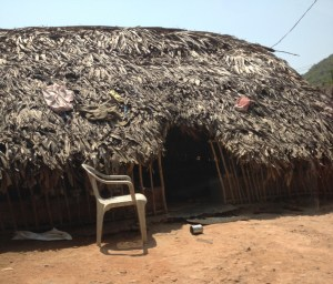 A hut in remote Indian village