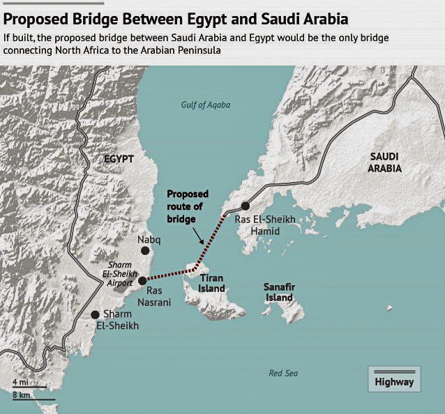 The Saudi Arabia-Egypt Proposed King Salmon Bridge