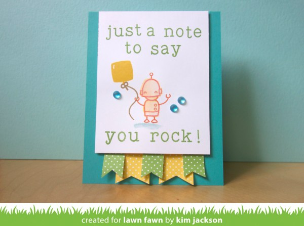 Just a Note to Say You Rock Card