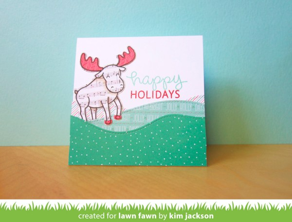 Happy Holidays - Moose by Kim Jackson