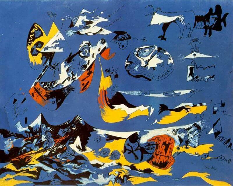 Resultat d'imatges de Jackson Pollock - Blue (Moby Dick), c. 1943