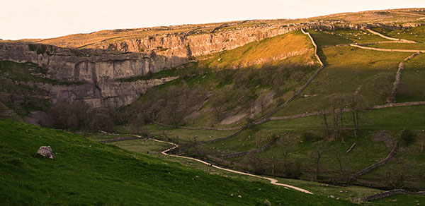 Sunsetting on Malham Cove