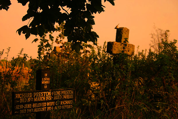 Graves in St Mary's churchyard, Long Preston