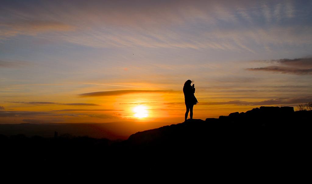 A fellow sunset seeker at Winskill, Ribblesdale