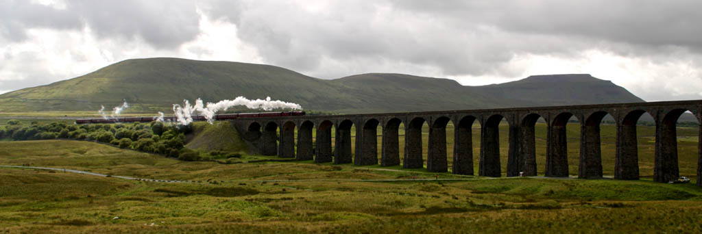 Steam on Ribblehead Viaduct