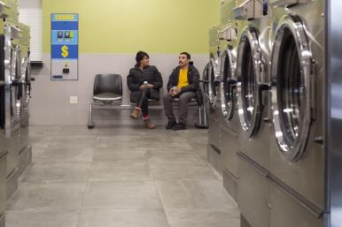 Jackson Laundromat people conversating