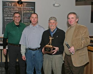 Clyde Carlson with Roger, Mark, and Dan - the day's champs