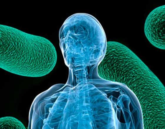 Ilustração micróbios